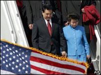 El presidente chino, Hu Jintao, de visita en EE.UU