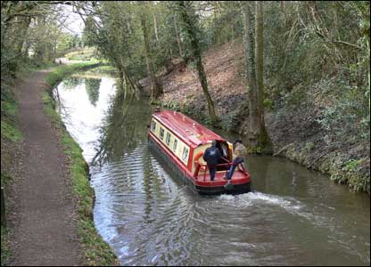 A pleasure barge on the canal at Goytre wharf, near Abergavenny (Nick Morgan, Caerleon)