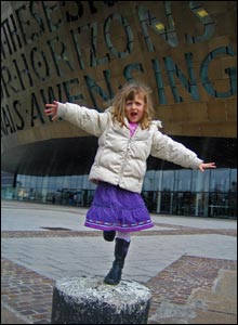 Neil Morris from Talgarth, Powys sent in this shot of daughter Megan in Cardiff Bay