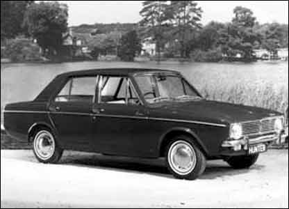 Hillman Hunter: image supplied by British Motor Industry Heritage Trust