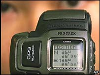 Casio wristwatch with GPS inbuilt