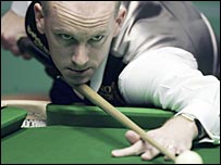 Peter Ebdon in action in Sheffield