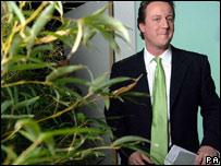 Cameron wears green tie