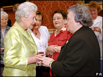 The Queen meets Doreen O&quot;Leary from Shropshire