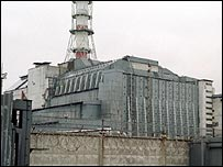 The reactor at Chernobyl