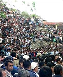 Nepalese protest in Kirtipur, Kathmandu