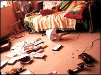 Burglary scene. Photo courtesy of Victim Support