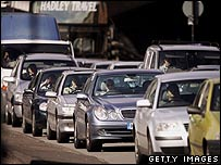 Cars en route to Central London   Image: Getty Images