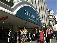 Debenhams store on London's Oxford Street
