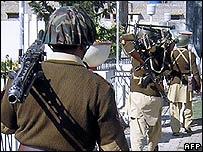 Pakistani soldiers in Waziristan