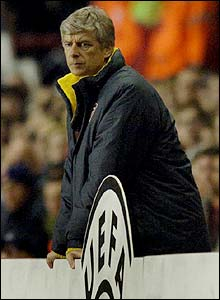 Arsenal boss Arsene Wenger watches from the touchline