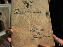 Cuaderno escolar de Lennon