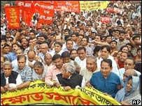 Opposition protests in Dhaka