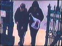 CCTV of Alison and Ryan at Hull station