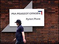 Peugeot worker