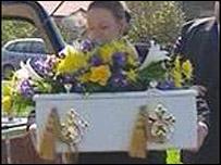 Craig Millar's coffin