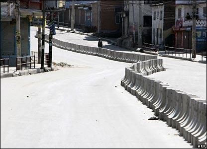 Deserted street in Kathmandu