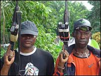 Nigerian militants in the Niger Delta