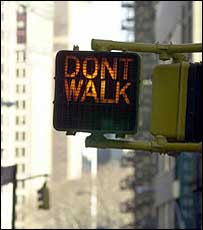 Don't Walk sign in New York City