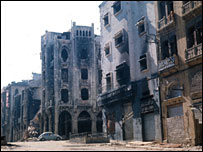 Beirut in ruins, 1980