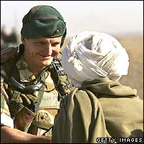 British soldier and Afghan man in Helmand