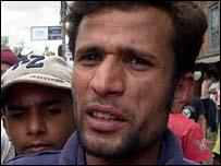 Nepalese protester Uttam Timanisha
