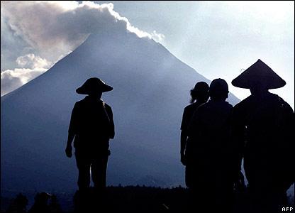 Farmers by Mount Merapi