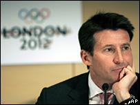 Lord Coe at the press conference 20 April 2006