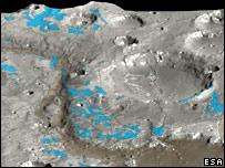 Omega image of Marwth Vallis (Esa/Omega/HRSC)