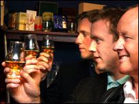 Glencairn Crystal directors Scott Davidson, Paul Davidson and Raymond Davidson
