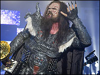 Lordi on stage (photo: YLE)