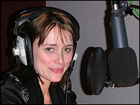 Actress Keely Hawes recording Lara Croft's dialogue