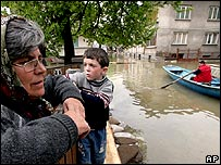 Flooding in Nikopol, Bulgaria