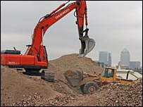 Building work starts in East London