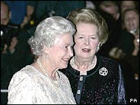 The Queen and Baroness Thatcher