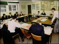 Older pupils being taught