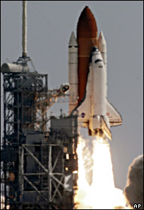 The shuttle Discovery   Image: AP