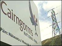 Pylon at Cairngorms