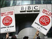 BBC staff on strike