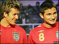 David Beckham and Frank Lampard