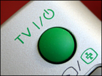 TV standby button (Image: BBC)