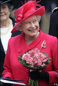 The Queen on walkabout in Windsor