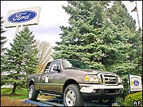 A Ford ranger outside one of the company's factories