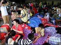 Chinese makeshift refugee camp in Honiara