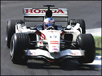 Jenson Button's Honda at the San Marino Grand Prix