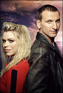 Billie Piper and Christopher Eccleston in the first series of the revived Doctor Who