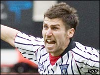 Mark Burchill celebrates the winning goal
