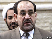 Jawad al-Maliki speaking after his nomination