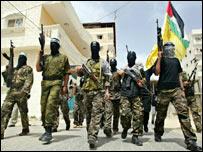 عناصر من فتح يحتجون ضد حماس في غزة