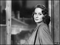 Alida Valli on the set of The Third Man in 1949